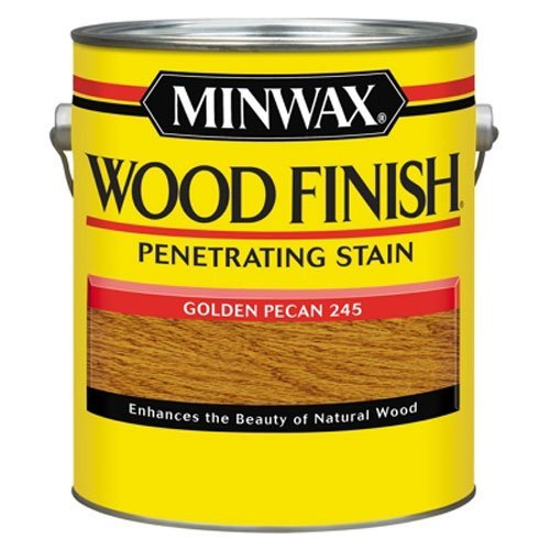 - Minwax 71041000 Wood Finish Penetrating Stain, gallon, Golden Pecan