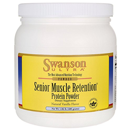 Swanson Senior Muscle Retention Protein Powder Vanilla 1.06 lb (480 g) Pwdr