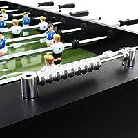 mewmewcat Futbolín Profesional de Acero Futbolín de Mesa 60 kg 140x74,5x87,5 cm Mangos Antideslizantes Negro: Amazon.es: Deportes y aire libre
