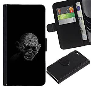 Planetar® Colorful Pattern Flip Wallet Leather Holster Protective Skin Case Cover For Apple iPhone 5 / iPhone 5S ( My Precious Gollum )