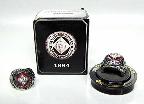 ST LOUIS CARDINALS 1964 WORLD SERIES CHAMPIONSHIP REPLICA RING SGA NIB - Art Baseball Wall Ticket