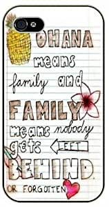 Ohana means family, family means nobody gets left behind or forgotten - Notebook, Inspired by Lilo And Stitch - iPhone 4 / 4s black plastic case / Inspiration Walt Disney quotes by icecream design