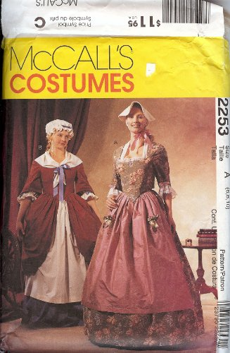McCalls 2253 Costume Pattern Colonial Gowns (Colonial Gown Costume)