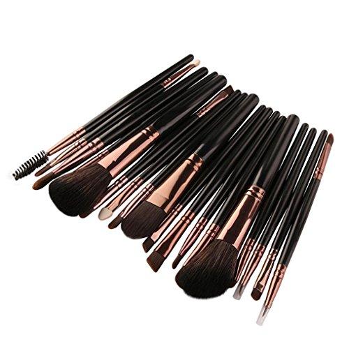 Hot Appoi Makeup Brush 18pcs Cosmetic Brush Set tools Make-up Toiletry Kit Wool Make Up Brush Set (Black) hot sale
