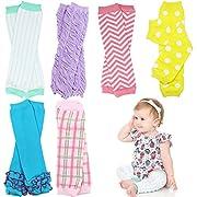 6 Pack Girl juDanzy leg warmers stripes, diamond ,dots &solids