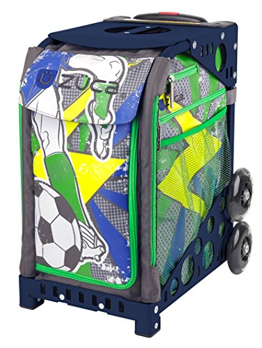 ZUCA World Cup Striker Sport Insert Bag and Navy Blue Frame with Flashing Wheels ()