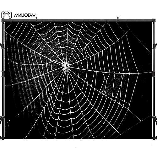 Maijoeyy 7ftx5ft Halloween Backdrop Spider Web Photography Backdrops Halloween Background Studio Props MJ-151934447CWB-D1]()