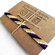 Nonbinary Pride Hand Woven Anklet or Bracelet