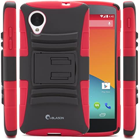 i-Blason Google Nexus 5 Smart Phone by LG Prime Series Dual Layer Holster Case with Kickstand and Locking Belt Swivel Clip (Lg Nexus 5 Cases For Girls)