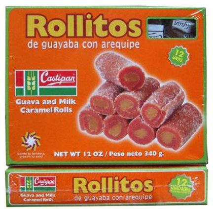 Castipan Rollitos de Guayaba Con Arequipe 12 Oz