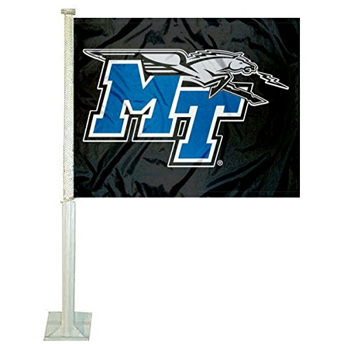 MTSU Blue Raiders Car and NCAA Auto Flag