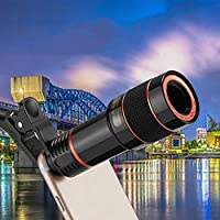 Zconmotarich Universal Clip 12X Zoom Mobile Phone Camera Telescope Lens for iPhone Samsung