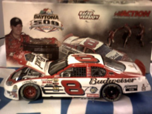 Dale Earnhardt Jr #8 Daytona 500 15 February 2004 Budweiser Born ON Date Win Raced Version 1/24 Scale Action Racing Collectables Club of America RCCA Limited Edition Hood Opens Individually Serialized Dale Earnhardt Diecast Collectibles