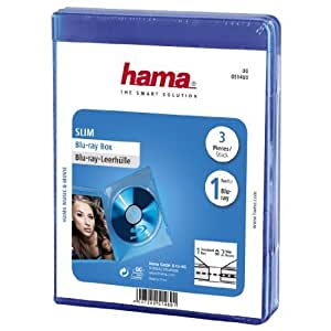 Hama Blu-ray Disc Slim Jewel Case (Pack of 3) - Blue by Hama