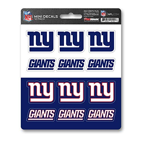 - ProMark NFL New York Giants DecalDecal Set Mini 12 Pack, Team Colors, One Size
