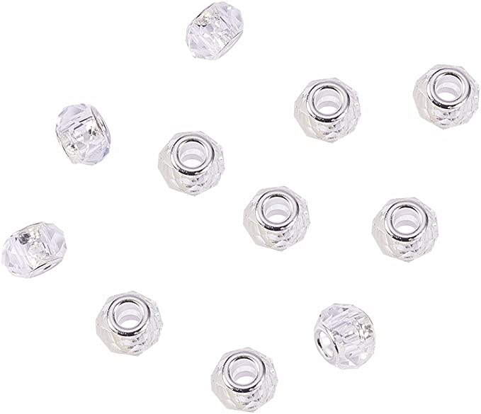Sterling Silver Large Hole Beads Large Hole Beads Red Beads European Charms Large Hole Glass Bead Glass /& Lampwork Large Hole Beads