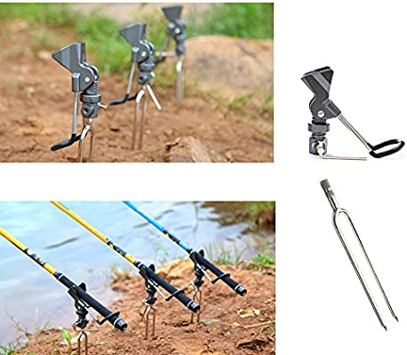 Adjustable Stainless Steel Bracket Support Stand Holder Rack Fishing Rod Pole