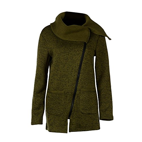 Women's Jacket,Laimeng Casual Hooded Long Zipper Cotton blend Full Length Sweatshirt Outwear Jacket Coat (Army green, (Classic Raincoat Liner)