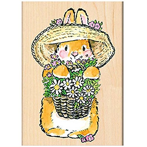 Penny Black Decorative Rubber Stamps, Bunny Bouquet by Penny Black Inc