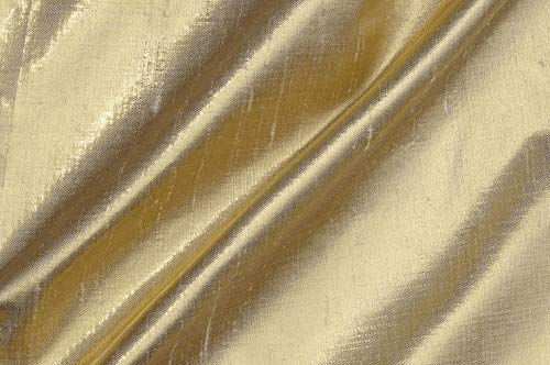 Champagne Gold Metallic Shantung Silk Fabric