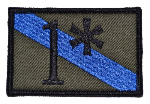 - 1 One Ass to Risk Thin Blue Line Sheepdog 2x3 Morale Patch - Olive Drab