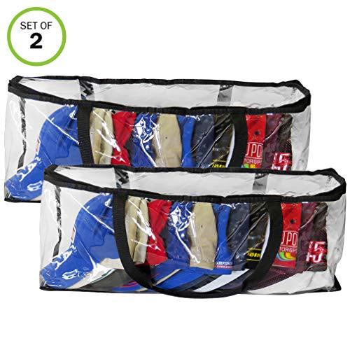 Evelots Hat-Cap-Storage Bags-Baseball-Organizer-Handles-Dust,Moisture Free-Set/2 - Moisture Free Dust