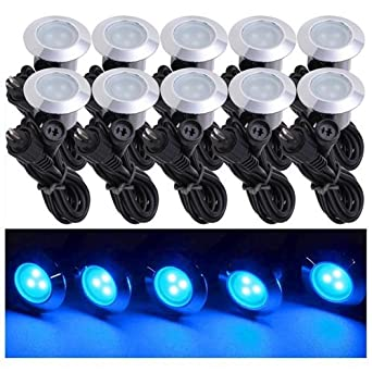 5 pack led recessed deck lighting fixture blue amazon 5 pack led recessed deck lighting fixture blue aloadofball Choice Image