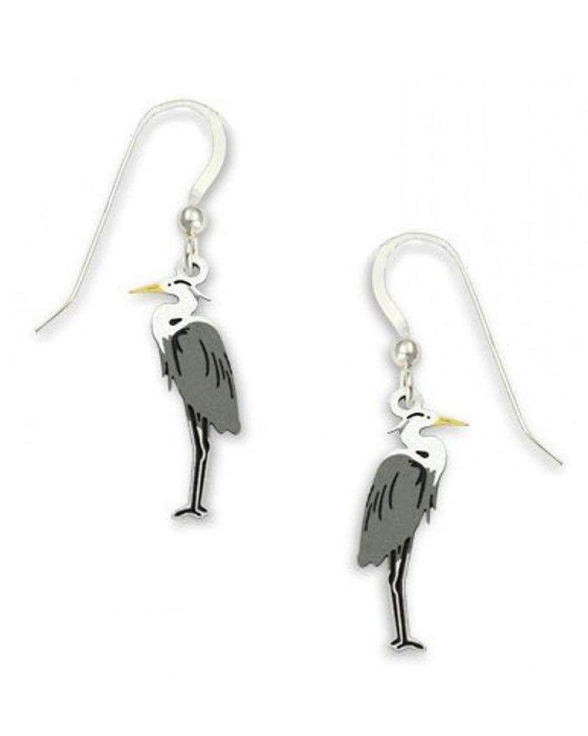 Sienna Sky Great Blue Heron Drop Earrings 1186