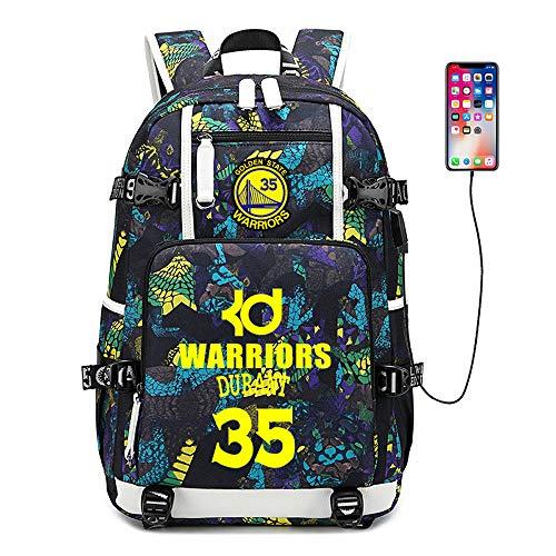 Basketball Player Star Durant Multifunction Backpack Travel Student Backpack Fans Bookbag for Men Women (Style 3) ()
