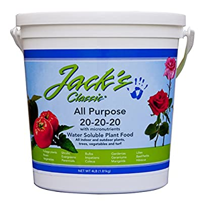J R Peters Jacks Classic No.4 20-20-20 All Purpose Fertilizer