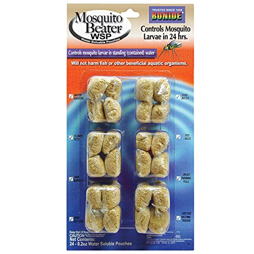 Bonide Mosquito Beater Water Soluble Pouches 24 - 0.2 Oz. (Mosquito Control Pond)