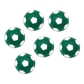 SM SunniMix 6pcs 32mm Fútbol de Mesa Fútbol Balones Futbolín ...