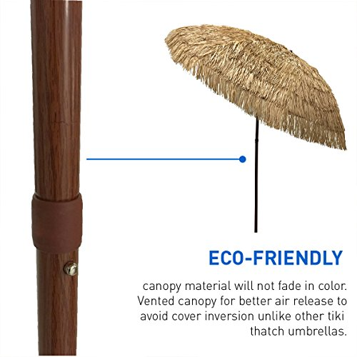 Umbrellas Easygo 8 Thatch Patio Tiki Tropical Pole Sun
