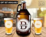 Beer growler, Wedding gift, Wedding growler, Monogram, Monogram growler, Wedding beer glasses, Wedding gifts, Beer wedding, Mr. and Mrs, Beer Ceremony, wedding gift, Personalized