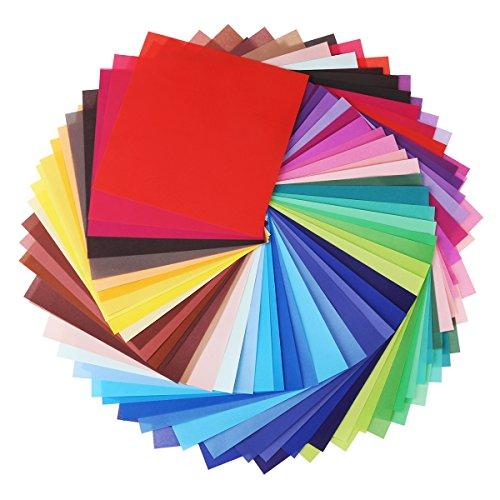 ULTNICE 200 pcs Origami Folding Paper Vivid color Square Sheets for DIY Art (Diy Origami Paper)