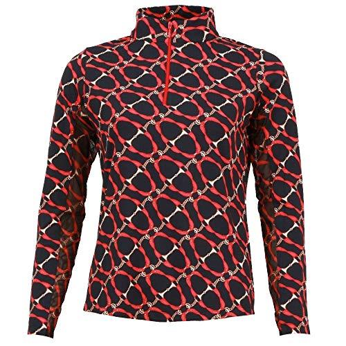 Womens Technical Mock Shirt - IBKUL Golf- Ladies Long Sleeve Mock Neck Shirt