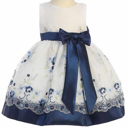 Navy Blue Taffeta Dress - 6