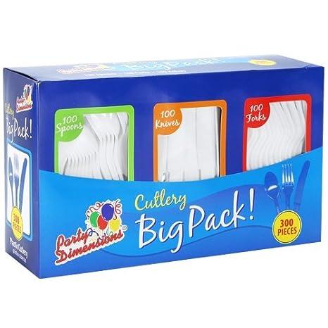Amazon.com: Party Dimensions - Caja de cubiertos (300 ...