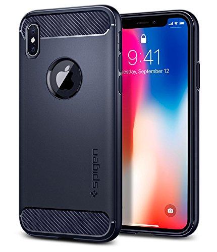Spigen Rugged Armor Designed for Apple iPhone Xs Case (2018) / Designed for Apple iPhone X Case (2017) - Midnight Blue