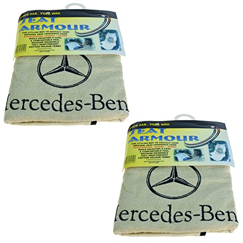 Seat Armour SA100MBZB Black 'Mercedes Benz' Seat Protector Towel ()