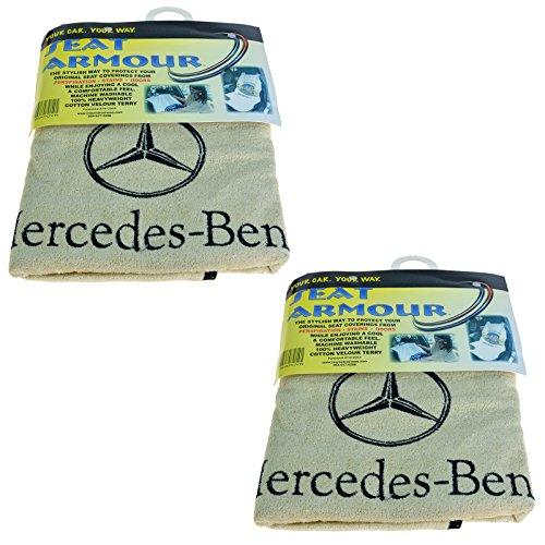 Seat Armour SA100MBZB Black 'Mercedes Benz' Seat Protector Towel