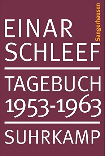 Tagebuch 1953 – 1963. Sangerhausen