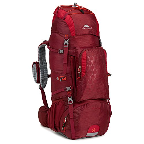 High Sierra Tech 2 Series Titan 55 Internal Frame Pack, Brick Red/Carmine/Red Line