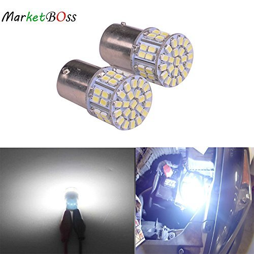 AutoBoy 2PCS Super Bright White 1156 1206 50-SMD 6000K Car LED Bulbs For Car Rear Turn Signal lights Interior RV Camper DC 12V