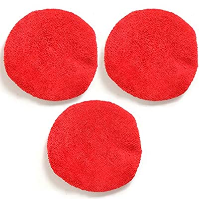 TAKAVU Car Care Replaced Microfiber Bonnets for Windshield Cleaning Tool - 3 Pack, Washable, Reversible, and Reusable: Automotive