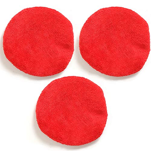 TAKAVU Car Care Replaced Microfiber Bonnets for Windshield Cleaning Tool – 3 Pack, Washable, Reversible, and Reusable