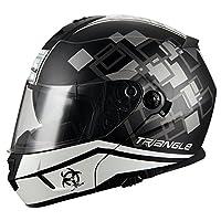 Triangle Motorcycle Helmet Modular Dual Visor Flip Up [ DOT ] White by Jinhua Bokai Motorcycle Fitting co.,LTD