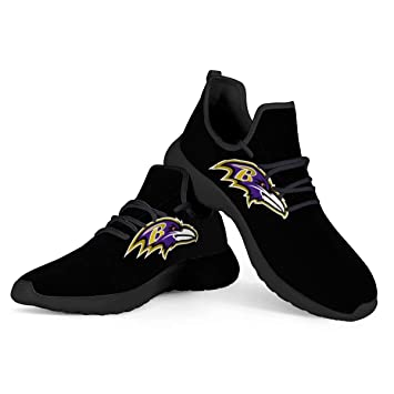 Baltimore Ravens Themed Casual Athletic Running Shoe Mens Womens Sizes Football Apparel and Gifts for Men Women Fan Merchandise