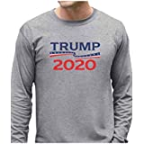 Tstars - Donald Trump President 2020 Campaign Long Sleeve T-Shirt Large Gray