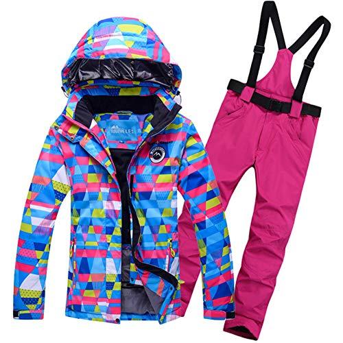 - Women's Ski Jacket Snowboard Windproof Jacket for Women Waterproof Snowsuit Set Colorful ski Clothes Coat-Q 3XL